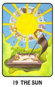 The Sun Tarot card in Karma deck