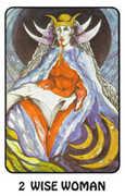 The High Priestess Tarot card in Karma deck