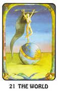 The World Tarot card in Karma deck
