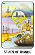 Seven of Wands Tarot card in Karma deck