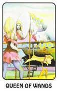 Queen of Wands Tarot card in Karma deck