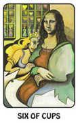 Six of Cups Tarot card in Karma deck