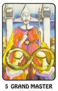 The Hierophant Tarot card in Karma deck
