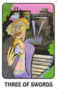Three of Swords Tarot card in Karma deck