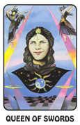 Queen of Swords Tarot card in Karma deck