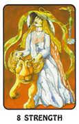 Strength Tarot card in Karma Tarot deck