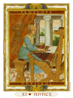 Justice Tarot Card - Lovers Path Tarot Deck