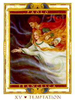 Temptation Tarot Card - Lovers Path Tarot Deck