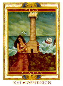 The Falling Tower Tarot Card - Lovers Path Tarot Deck