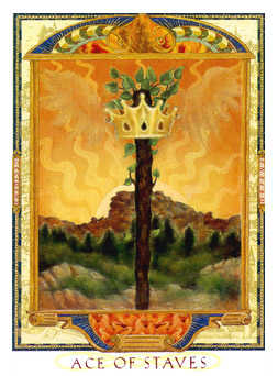 Ace of Rods Tarot Card - Lovers Path Tarot Deck