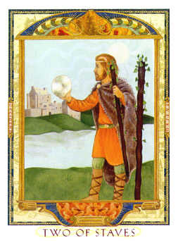 Two of Wands Tarot Card - Lovers Path Tarot Deck