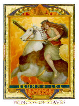 Valet of Batons Tarot Card - Lovers Path Tarot Deck