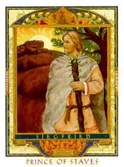 Prince of Staves Tarot Card - Lovers Path Tarot Deck
