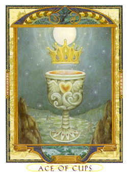 Ace of Ghosts Tarot Card - Lovers Path Tarot Deck