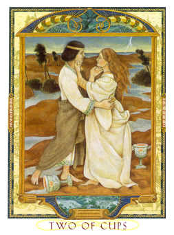 Two of Cups Tarot Card - Lovers Path Tarot Deck