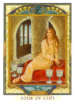 Four of Cups Tarot Card - Lovers Path Tarot Deck
