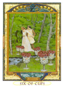 Six of Bowls Tarot Card - Lovers Path Tarot Deck