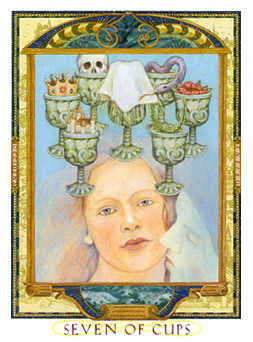 Seven of Ghosts Tarot Card - Lovers Path Tarot Deck