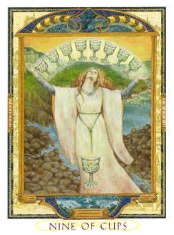 Nine of Bowls Tarot Card - Lovers Path Tarot Deck