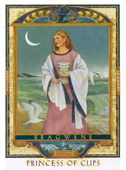 Princess of Hearts Tarot Card - Lovers Path Tarot Deck