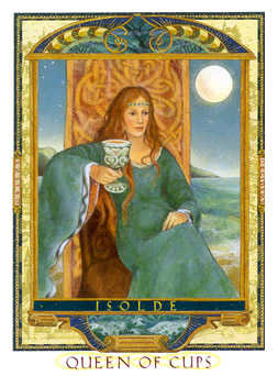 Queen of Bowls Tarot Card - Lovers Path Tarot Deck