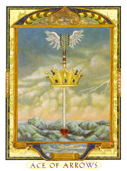 Ace of Swords Tarot Card - Lovers Path Tarot Deck
