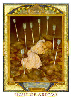 Eight of Spades Tarot Card - Lovers Path Tarot Deck