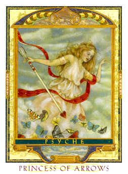 Page of Swords Tarot Card - Lovers Path Tarot Deck