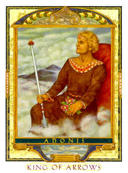 King of Rainbows Tarot Card - Lovers Path Tarot Deck