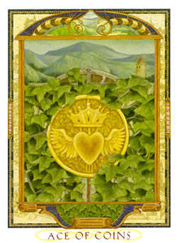 Ace of Discs Tarot Card - Lovers Path Tarot Deck