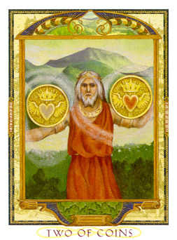 Two of Coins Tarot Card - Lovers Path Tarot Deck