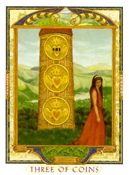 Three of Discs Tarot Card - Lovers Path Tarot Deck