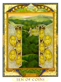 Ten of Pumpkins Tarot Card - Lovers Path Tarot Deck