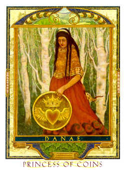 Daughter of Discs Tarot Card - Lovers Path Tarot Deck