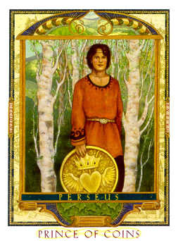Prince of Coins Tarot Card - Lovers Path Tarot Deck