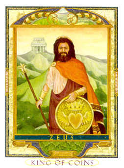 Roi of Coins Tarot Card - Lovers Path Tarot Deck