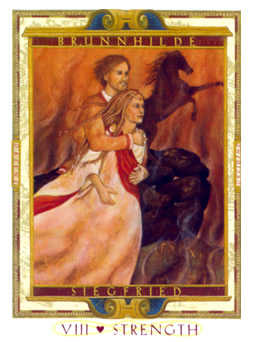 Strength Tarot Card - Lovers Path Tarot Deck