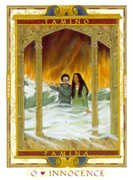 The Fool Tarot card in Lovers Path Tarot deck