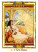 Wheel of Fortune Tarot card in Lovers Path Tarot deck