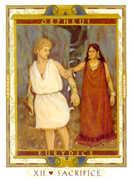 The Hanged Man Tarot card in Lovers Path Tarot deck