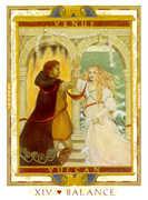 Temperance Tarot card in Lovers Path Tarot deck