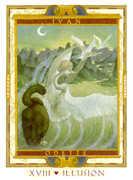 The Moon Tarot card in Lovers Path Tarot deck