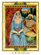 The High Priestess Tarot card in Lovers Path deck