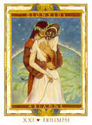 The World Tarot card in Lovers Path Tarot deck