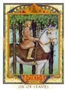 Six of Wands Tarot card in Lovers Path Tarot deck