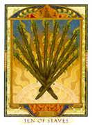 Ten of Wands Tarot card in Lovers Path Tarot deck
