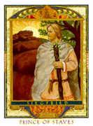 Knight of Wands Tarot card in Lovers Path Tarot deck
