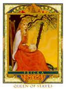 Queen of Wands Tarot card in Lovers Path Tarot deck