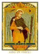 King of Wands Tarot card in Lovers Path Tarot deck