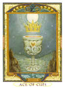 Ace of Cups Tarot card in Lovers Path deck